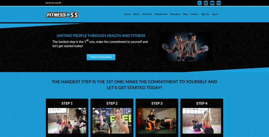 Fitness for $5